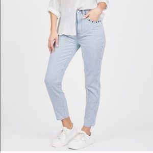• Juicy Couture • Ticking Striped Girlfriend Jeans